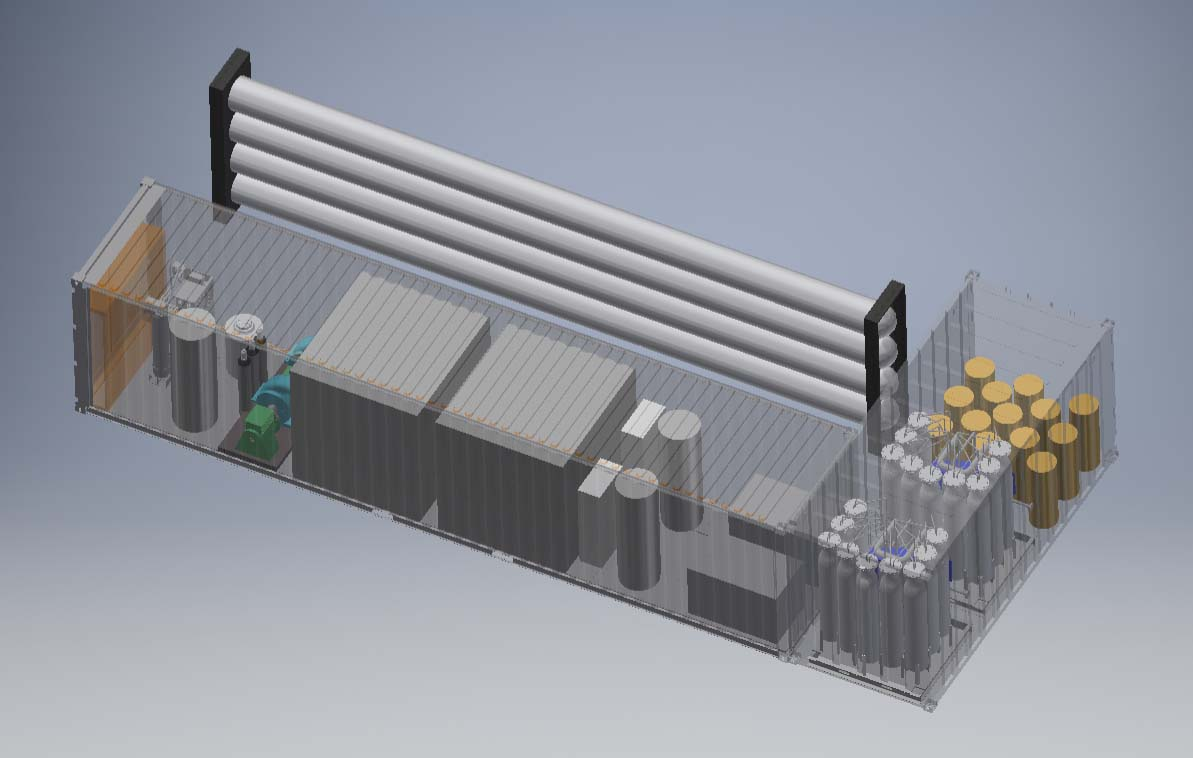 3-D Rendering of the Tersus Power Hydrogen Fueling Station